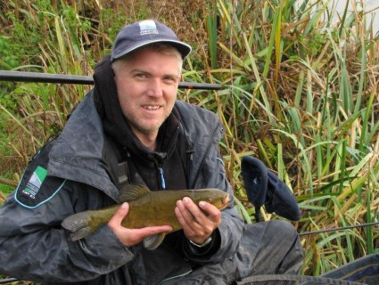 Darren with a 2lb tench