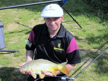 Nigel's first fish a 6lb mirror carp