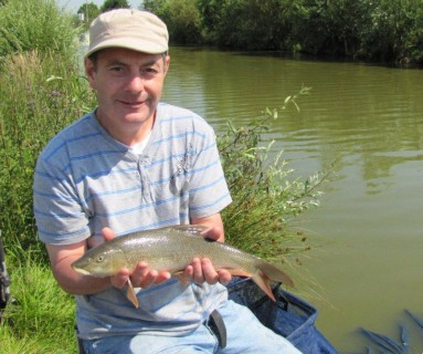 a beautiful barbel close to 3lbs