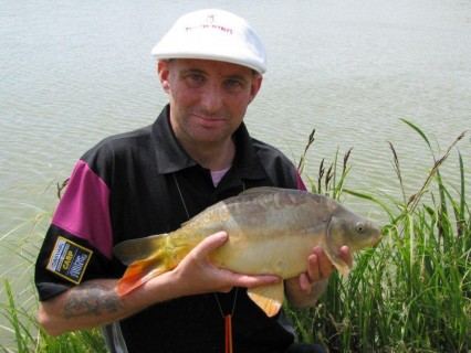 a beautiful mirror carp