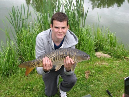a fully scaled mirror carp about 8lbs