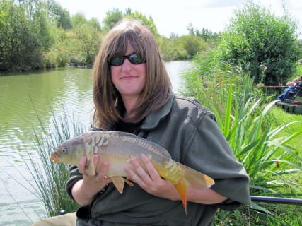 a mirror carp close to 4lbs