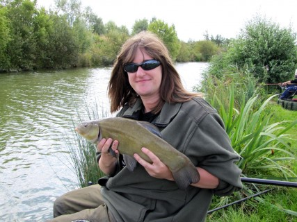 this 3lb tench fell to a banded pellet