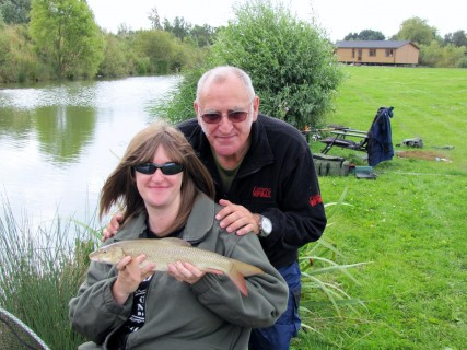 two happy anglers