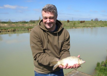 Paul's first fish a 2lb F1