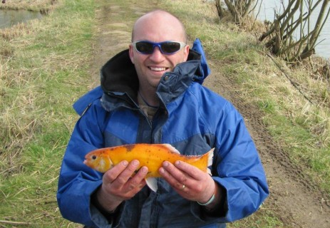 an unusual 2lb golden tench