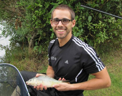 Rob with his first fish