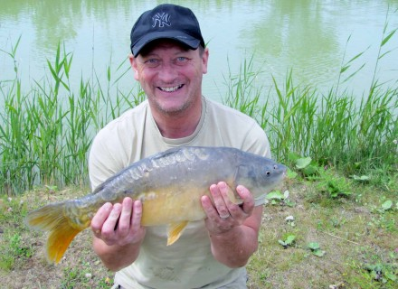 a beautiful 7lb mirror carp