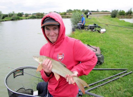 Ashley with a 4lb barbel