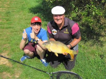 a double figure mirror carp