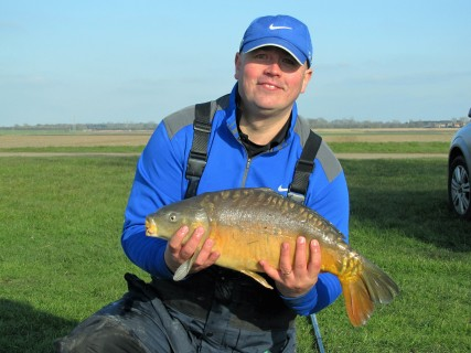 A mirror carp close to 10lbs