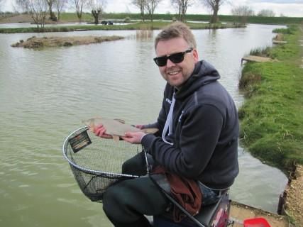 Gareth with a 2lb barbel