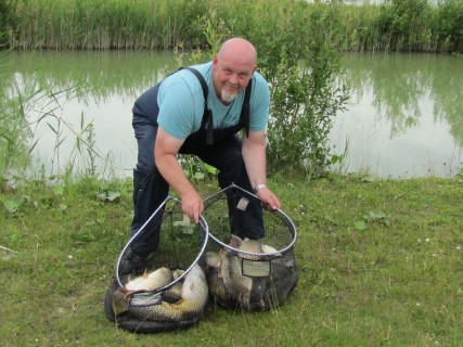2 50lb nets of fish, brilliant catch Clive