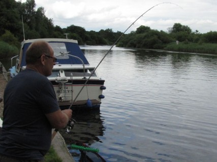 Chris hooks into a good fish