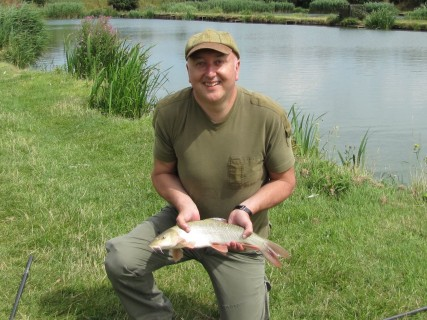 Simon with a 4lb barbel